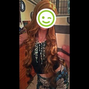 "Accessories - Two tone super long 32"" lace front wig"